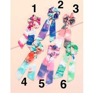 🆕 Tie Dye Knot Ribbon Scrunchie